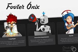 Footer Ónix para Blogger