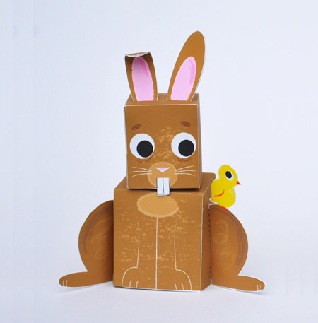 Easter Animal Paper Toys - Fred and Ginger