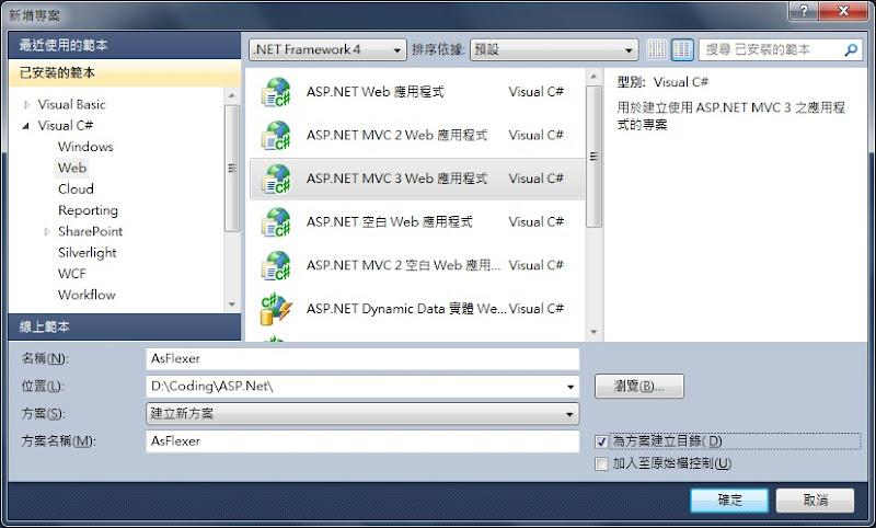 Create ASP.Net MVC 3 Project