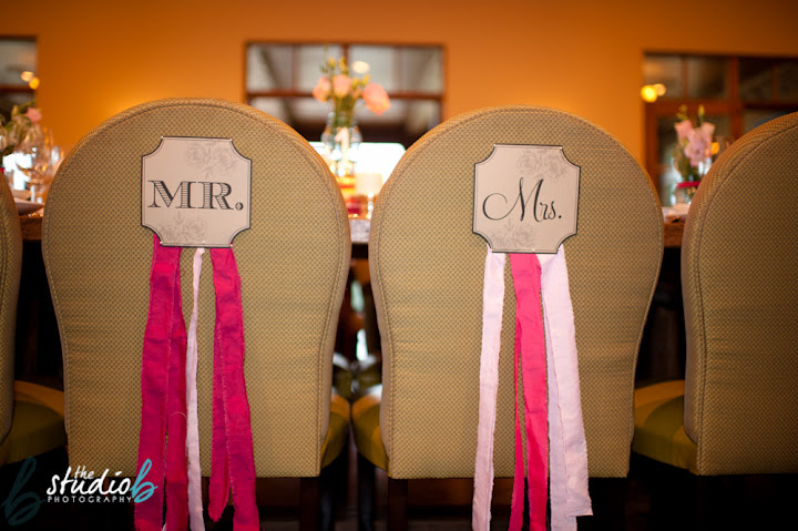mr. and mrs. chair signs