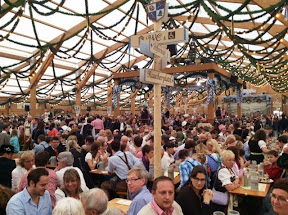 Oktoberfest Small tent - a still civilized mob