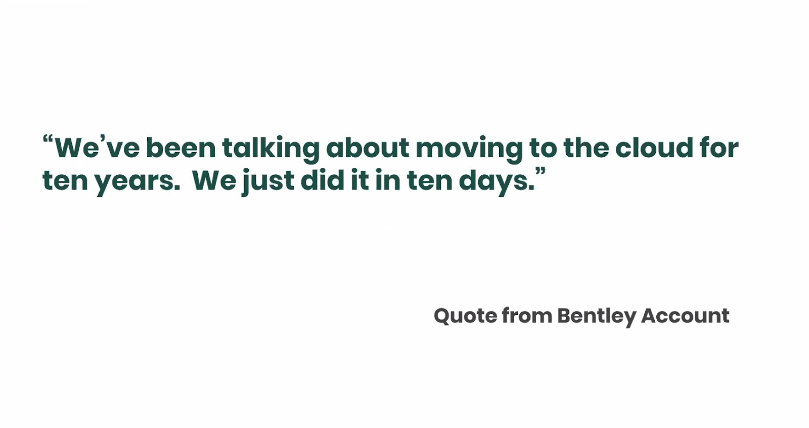 Bentley clients accelerate move to cloud