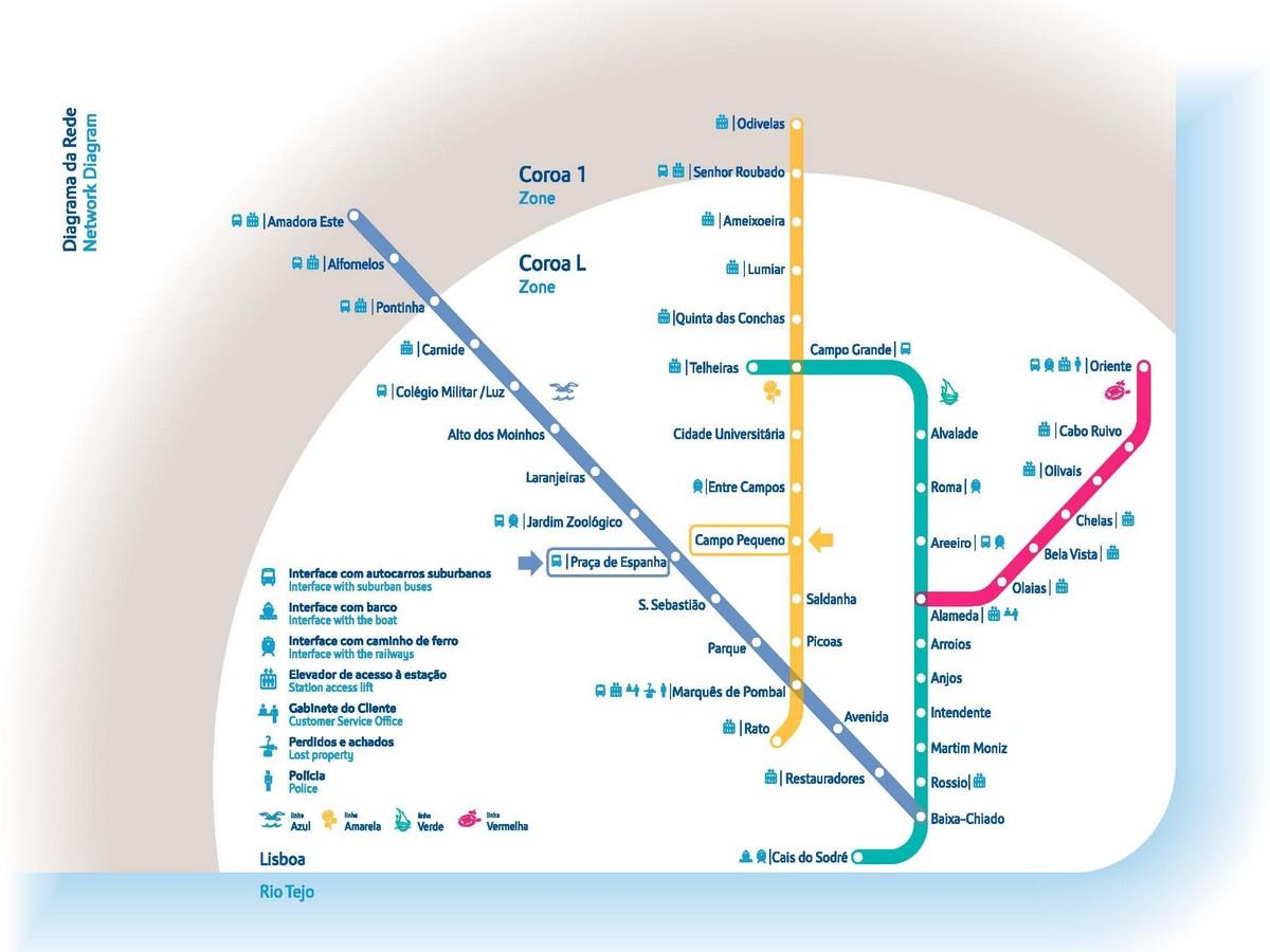 Карта метро Лиссабон
