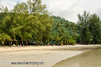 Beach in front of Koh Chang Paradise & Spa