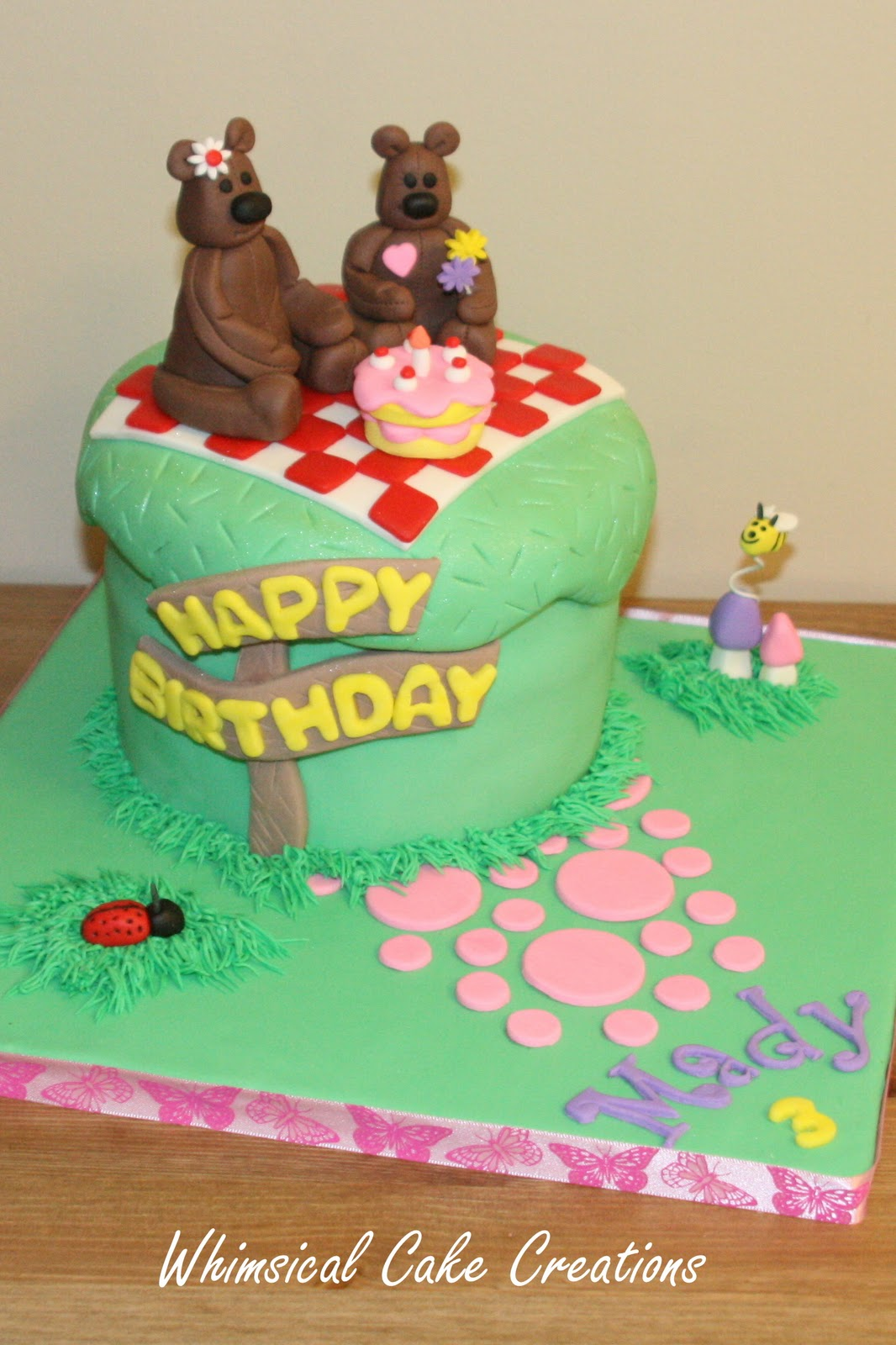 Whimsicalcreations Teddy Bear Picnic Cake