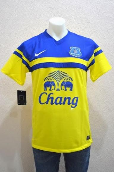 Jual Jersey Everton Away Kuning Terbaru 2014