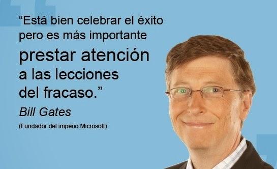 Está bien celebrar el éxito - Bill Gates
