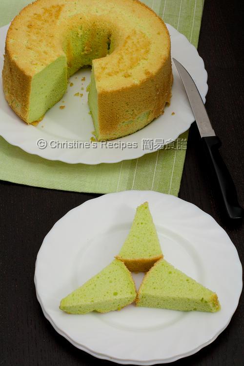 Pandan Chiffon Cake01