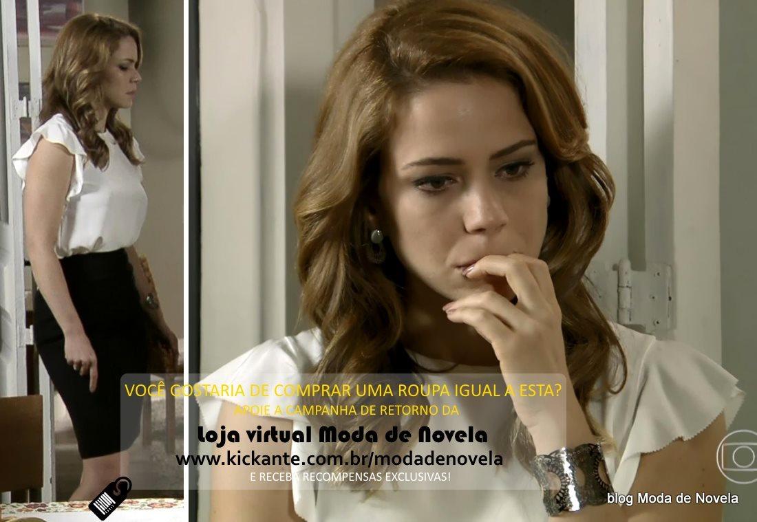 moda da novela Império, look da Cristina dia 16 de fevereiro de 2015