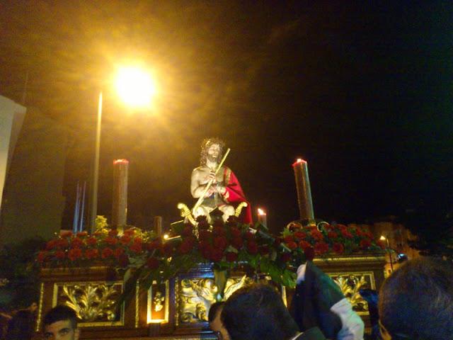 Imagen de la primera procesión de la Semana Santa Benalmadense.