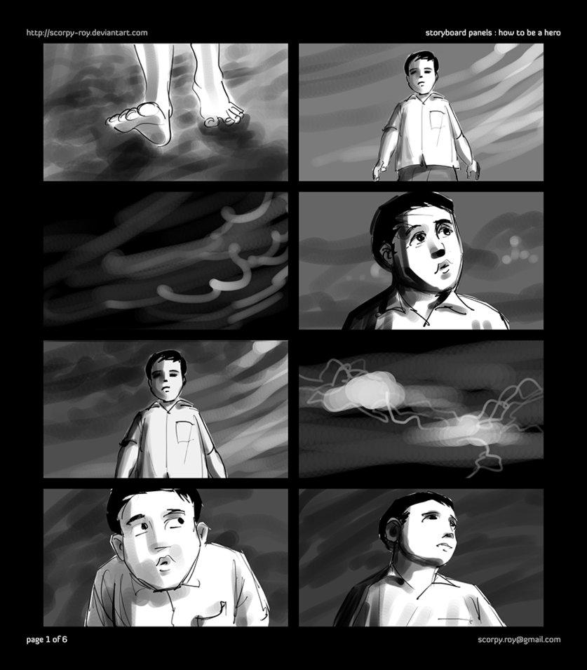 storyboard art for short film