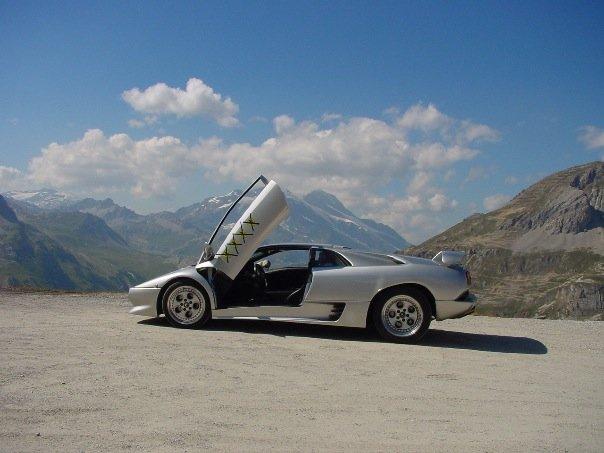 Lamborghini in the Alps