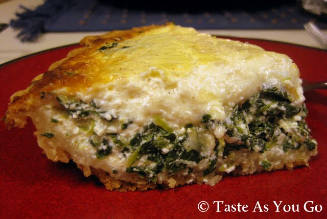 Spinach and Gruyere Quiche   Taste As You Go