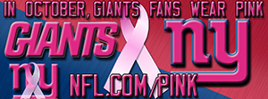 Giants Breast Cancer Awareness Pink Facebook Cover Photo