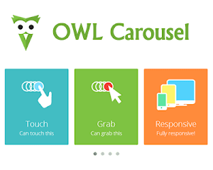 OWL Carousel – Touch Enabled and Responsive Slides