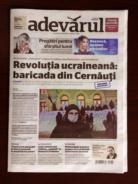 Reportaj din mijlocul revoluţiei din Cernăuţi