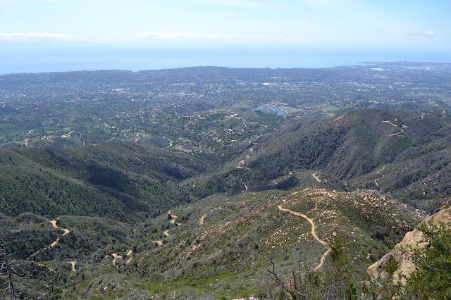 trails below the ridge