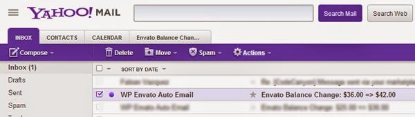 YkHOO! Mail contacten CAL ENOAR Envto Balance chaa. Delete Move Spam OAclla.s. Ontwerp Verzonden Enveto Auto Email Enveto Balance Spam