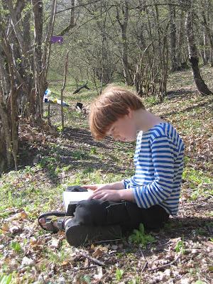 Гриша читает