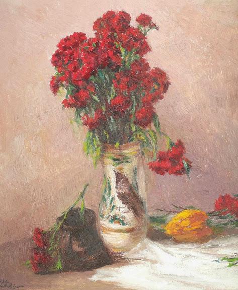 Leon Biju - Canceu cu flori roșii