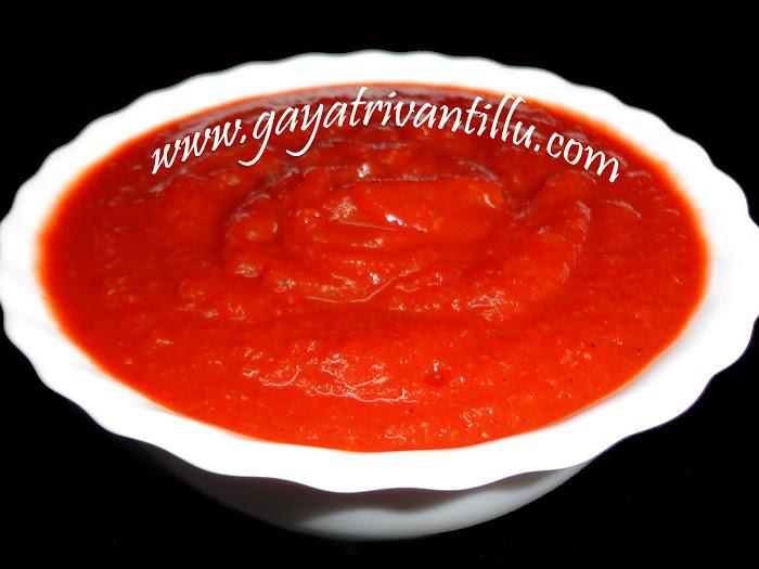Tomato ketchup indian recipes andhra tomato ketchup indian recipes andhra recipes telugu vantalu gayatri vantillu forumfinder Gallery