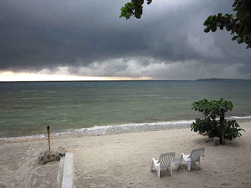 stormy ocean view from Sunset Bay Beach Resort in San Fernando, La Union
