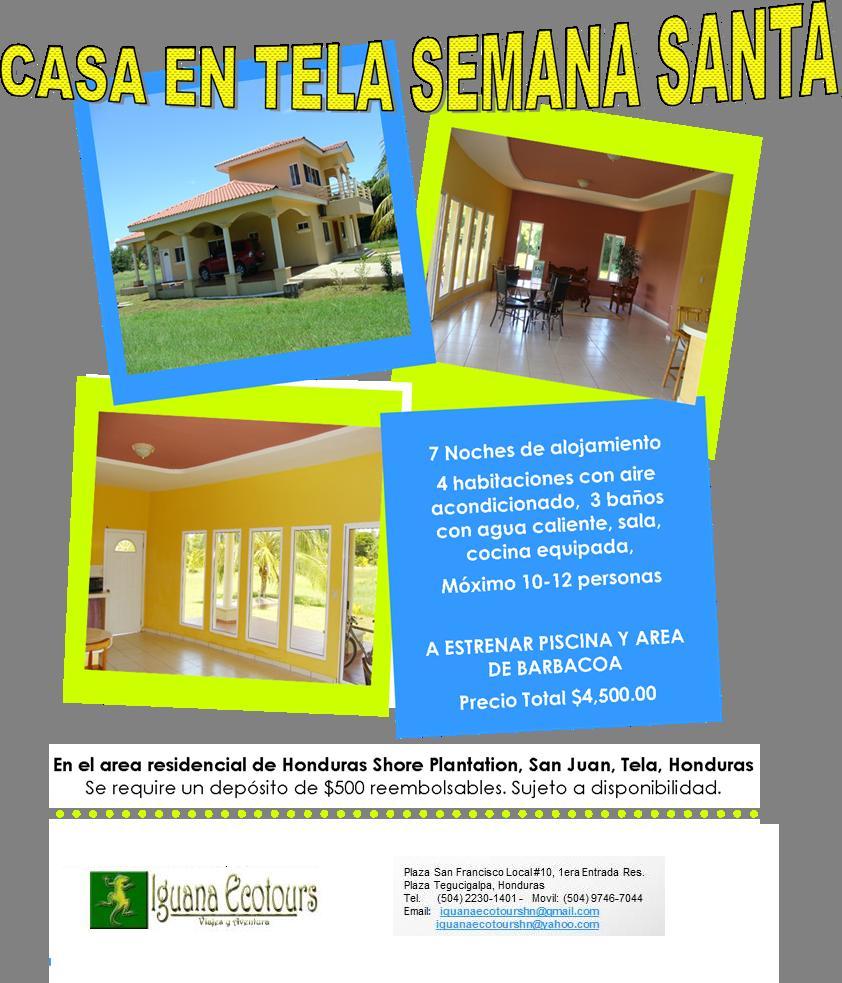 Iguana ecotours for Alquiler casa sevilla una semana