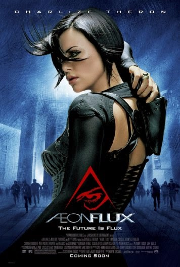 Poster Of AEon Flux (2005) Full Movie Hindi Dubbed Free Download Watch Online At Alldownloads4u.Com