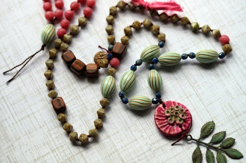 Woodland Knotted Necklace by Bead Soup Jewelry