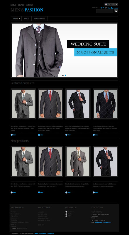 Men Fashion Presashop Themes