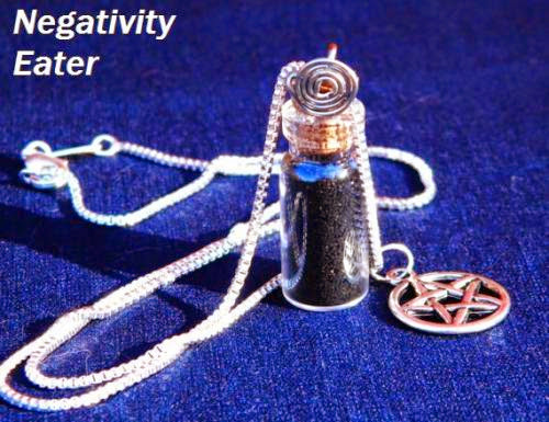 The Original Anti Negativity Charm Spell Bottle Sterling Necklace By Moonhuntermagick