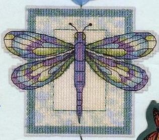 Dragonfly Fantasycross stitch pattern
