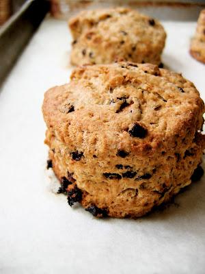 irish soda scones on a baking sheet