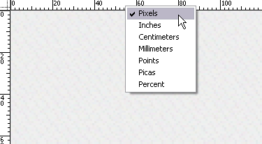 setting ruler ke pixel