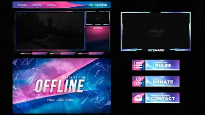 BLUE AND PINK STREAM OVERLAY TEMPLATE FREE DOWNLOAD