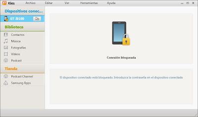 Instalar Samsung Kies 2.0, conectar Samsung Galaxy SII a PC