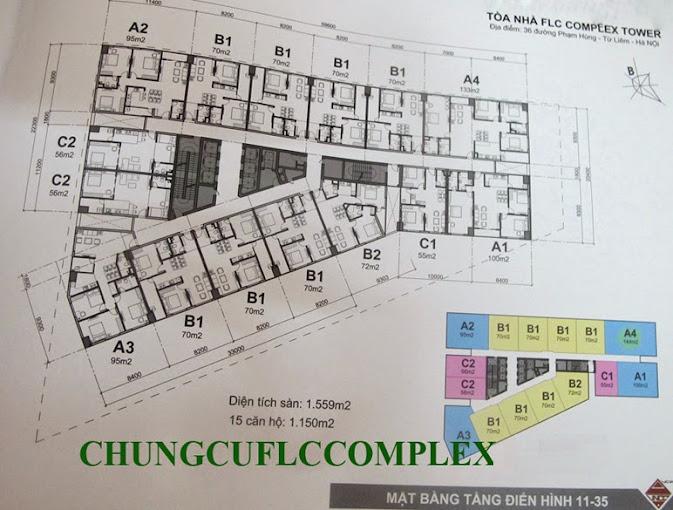 Mặt bằng chung cư flc complex