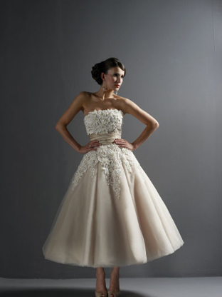 9eafb11d7ba4 This tulle and lace dress features a natural waistline, pearl and crystal  clear embroidery, and a very full ball gown skirt. It is a terrific dress  for any ...