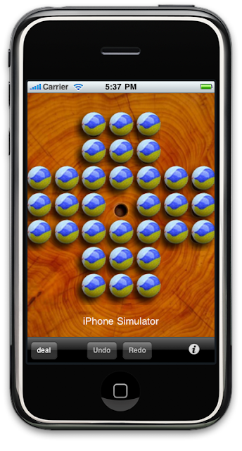 the game running with a filled board