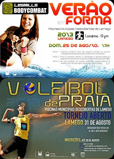 BodyCombat e Voleibol de Praia nas Piscinas Descobertas de Lamego