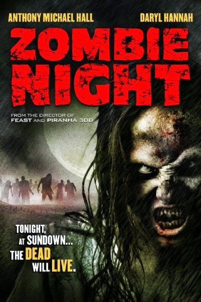 Poster Of English Movie Zombie Night (2013) Free Download Full New Hollywood Movie Watch Online At Alldownloads4u.Com