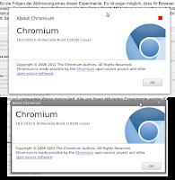 Google-style dialogs aktiviert in Chromium