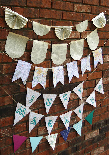 Handmade bunting strands for sale at Momentarily Yours Events at www.momentarilyyours.com