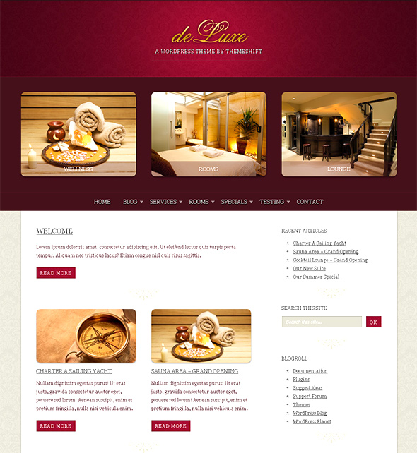 deLuxe WordPress Theme for Wedding Photos