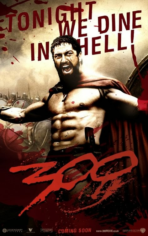 Poster Of 300 (2006) Full Movie Hindi Dubbed Free Download Watch Online At Alldownloads4u.Com