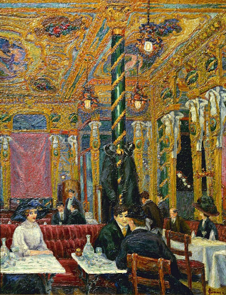 Charles Ginner - The Cafe Royal, 1911