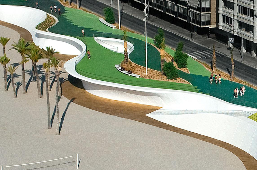 Seafront of Benidorm design by Carlos Ferrater Xavier Marti Gali