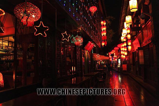 Chengdu Jinli Ancient Street Night Photo 2013