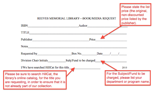 Sample Blank Request Form
