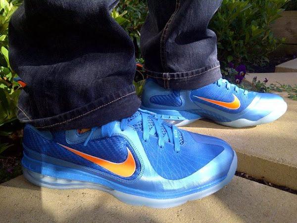 Nike LeBron 9 8220China8221 Onfoot Pics wOrange amp Blue Laces